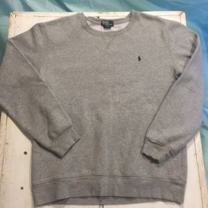 Gray polo sweat shirt